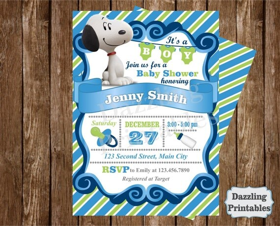 Snoopy Baby Shower Invitations Ideas – Snoopy Party Invitations
