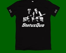 Status Quo tshirt - Francis Rossi rick parfitt the quo rockin all over the world sweet caroline