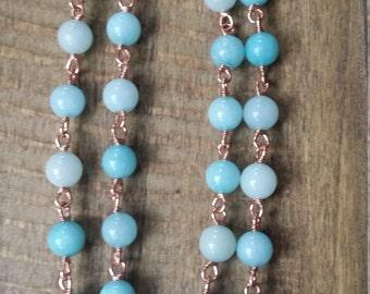 Amazonite Copper Necklace