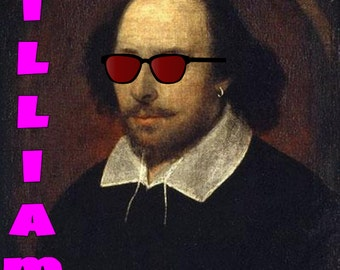 William Shakespeare, London Calling Poster, Digital Download