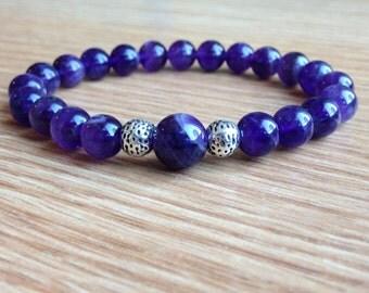 Stone amethyst bracelet