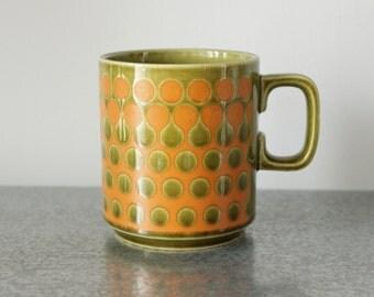 Hornsea Drops Saffron Mug, Vintage Ceramic, John Clappison, England
