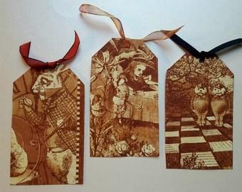 Homemade Wonderland Bookmarks (Set of 3)