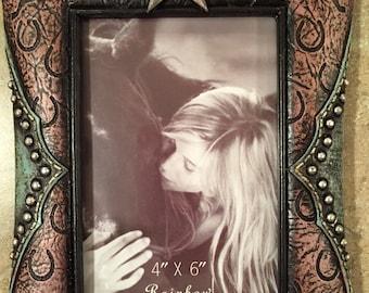 4x6 Cowgirl & Horse Photo Frame
