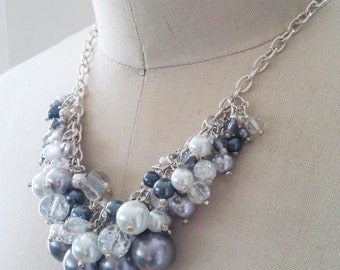 Multi- Beaded Cluster Necklace