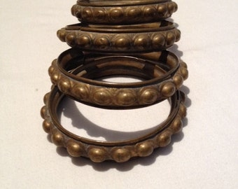 Antique French Metal Curtain Rings