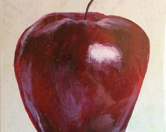 Shiny Red Apple (original)