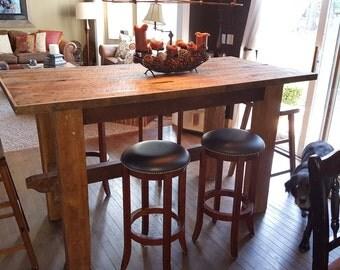 Barnwood Table from 1880's Barn