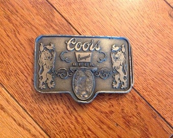 Coors Beer Belt Buckle