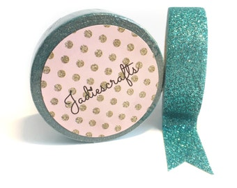 Glitter Periwinkle Washi Tape | Teal