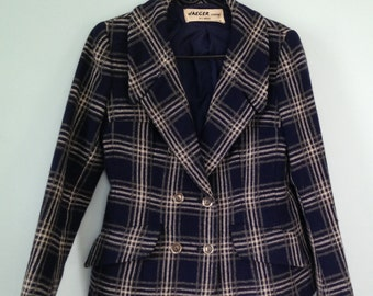 Vintage wool blazer women's small made in Great Britain