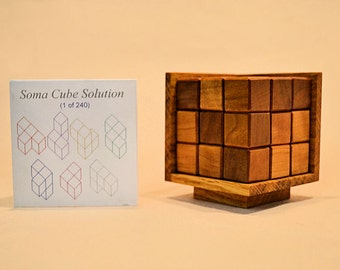 Soma Cube Hand Made Wooden Block Puzzle
