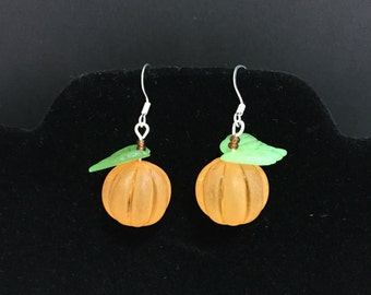 Pumpkin Earrings - Halloween Earrings - Thanksgiving Earrings
