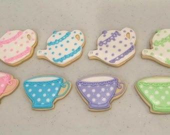 Teacup & Teapot Cookies (1 dozen)
