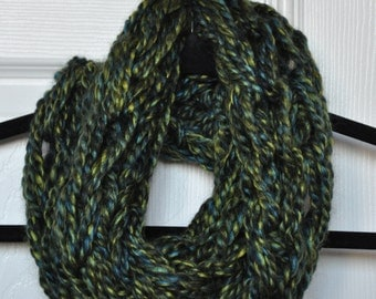 Green and Blue Infinity Scarf (Short)