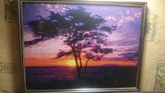 Cross stitched Sunset