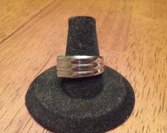 Vintage stainless steel spoon ring