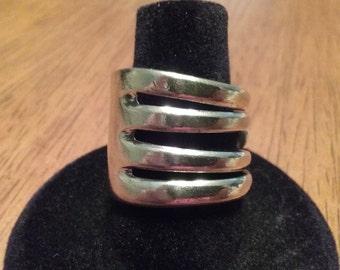 Vintage Stainless Steel fork ring(efl 31)