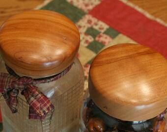 Two Cherry Mason Jar Lids