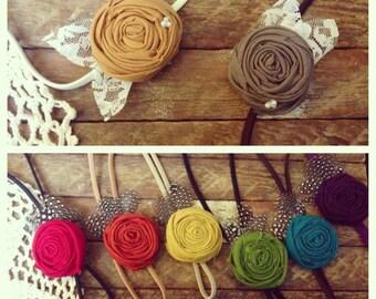 Single Rosette Headbands