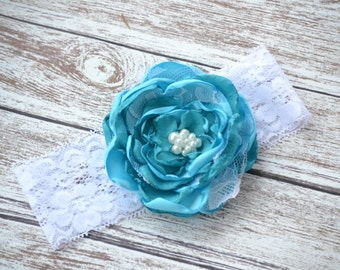 Child Headband, Jewel Toned Lace Headband