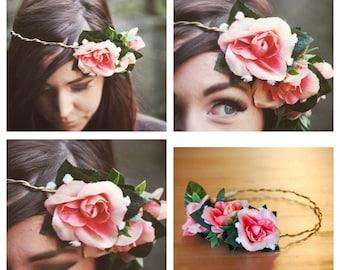 Floral Crown - Braided - Rose - Headpiece