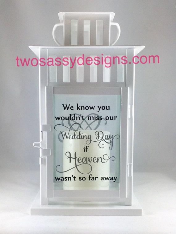Memory lantern large wedding table