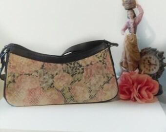 90's Purse/Van Eli purse/Eli Van/Vintage purse/Leather purse/Small purse/Purse with zipper/Purse with Neutral colors/Purse for any occasion