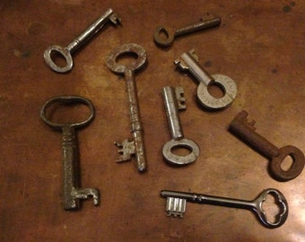 Old Oxidised Keys - Group Of