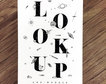 LOOK UP (12x18 Poster)