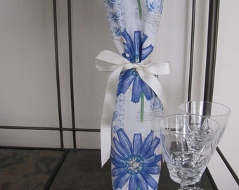 Wine Bottle Bag with ribbon tie