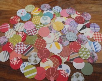 Die Cut Circles made from Quality Patterned Scrapbooking Paper