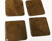 Hand-Crafted Tobacco Leaf Coasters (Square - Cigar Leaf)