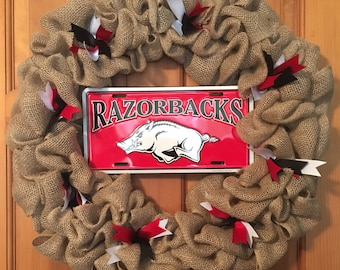 Arkansas Razorbacks wreath **FREE SHIPPING!!!!**