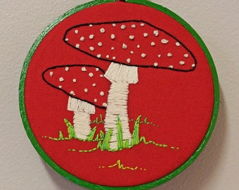 Toadstools - Fungi Nature Embroidery