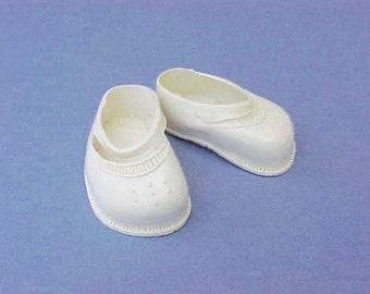 Cute Little Vintage Vinyl Doll Shoes