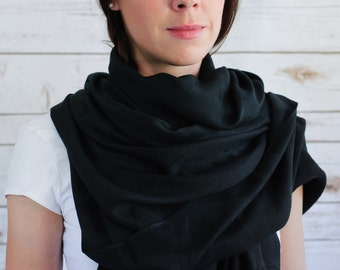 Fairtrade Black Bamboo Scarves