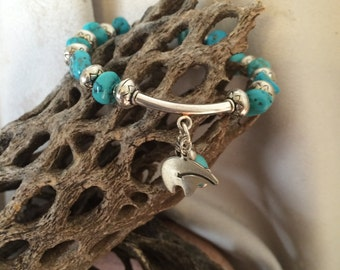 Turquoise and Sterling Silver Charmer