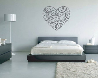 Love Heart Pattern Vinyl Wall Art