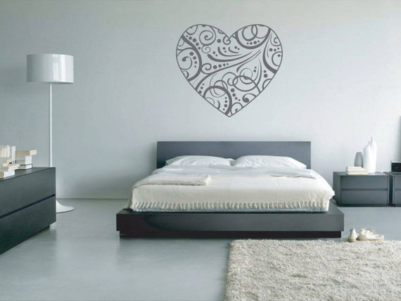 Wall Art Love Heart : Love heart pattern vinyl wall art
