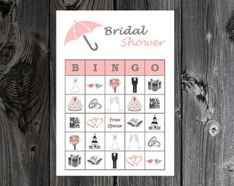 Bridal Shower Bingo 30 Printable Bridal / Wedding Party Bingo Game Cards
