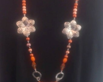 Orange Long Necklace