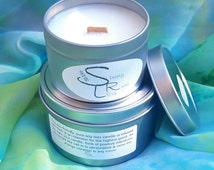 Reiki Infused, wood wick, soy candle