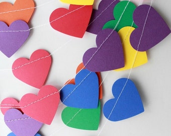 Heart banner garland.  Party decorations.  Photo prop