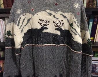 Cozy Reindeer Sweater - XL Jones NY Holiday Sweater