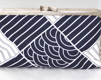Japanese fabric clutch bag
