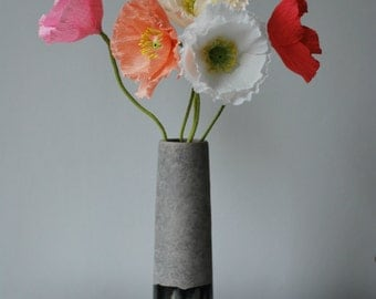 Set of 3 paper poppies / paper flowers / iceland poppies / first anniversary / paper anniversary / wedding flowers