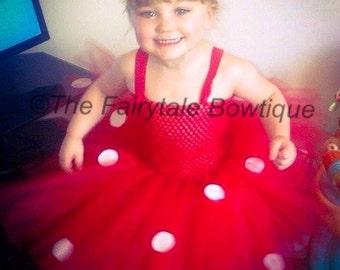 Girls Handmade Minnie Mouse Tutu Dress. Made to Order.