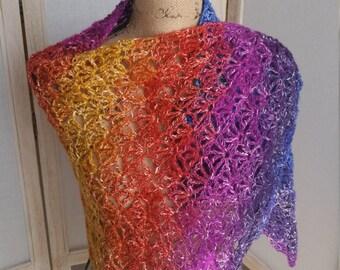 Crochet Raimbow Wrap/Shawl