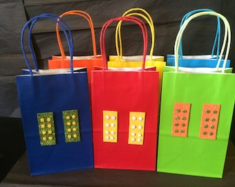 Lego Candy Bags or Favor Bags set of 10 bags